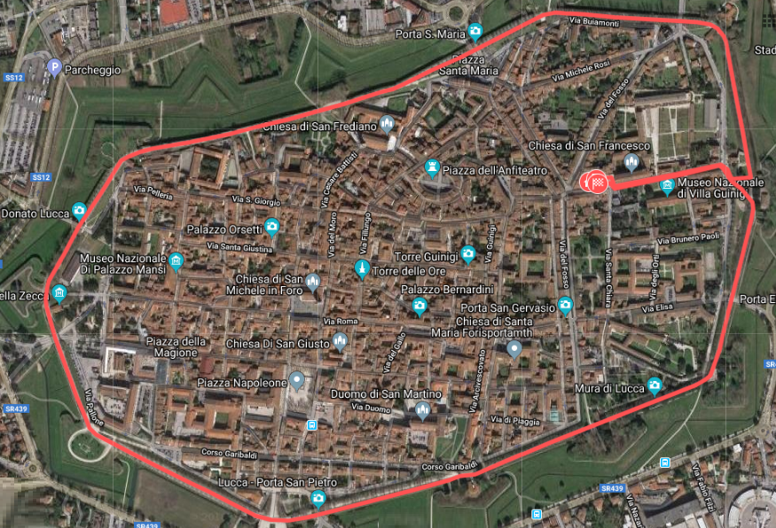 R4C Lucca 2018 - Percorso