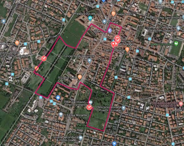 R4C Sassuolo 2019 - Percorso